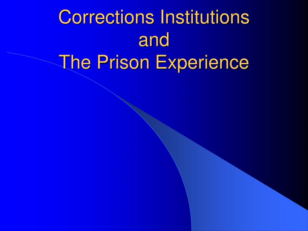 corrections institutions and the prison experience l.