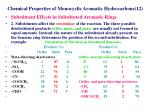chemical properties of monocyclic aromatic hydrocarbons 12
