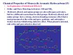 chemical properties of monocyclic aromatic hydrocarbons 151