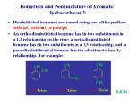 isomerism and nomenclature of aromatic hydrocarbons 2