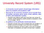 university record system urs
