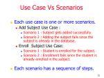 use case vs scenarios