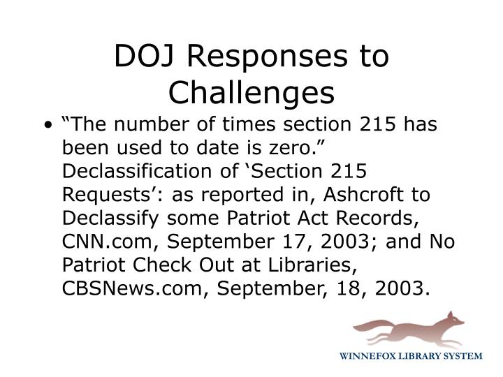 """""""The number of times section 215 has been used to date is zero."""" Declassification of 'Section 215 Requests': as reported in,"""