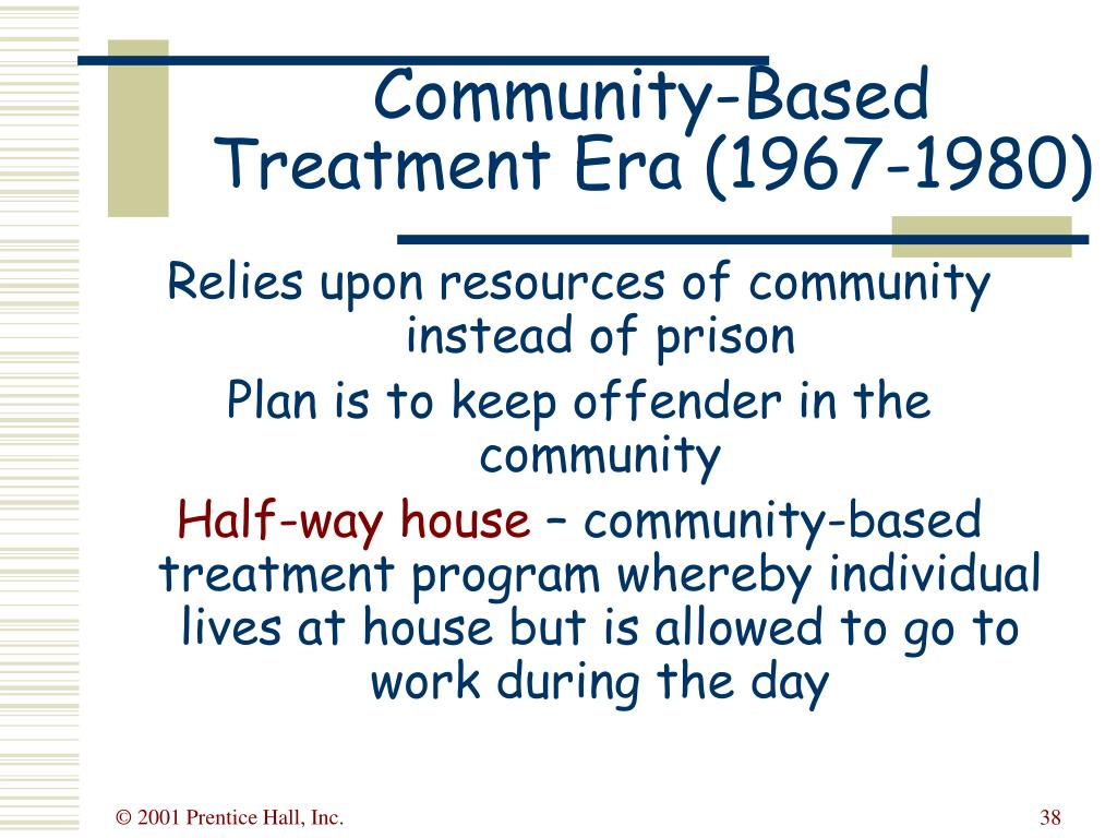 Community-Based Treatment Era (1967-1980)