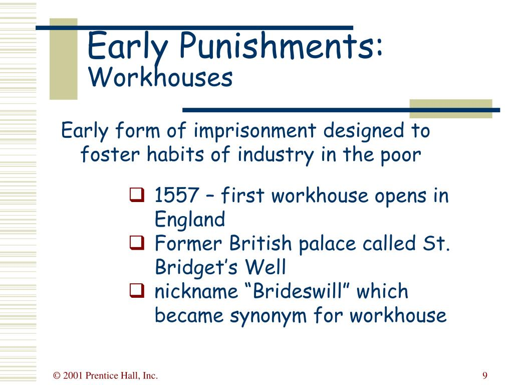 Early Punishments: