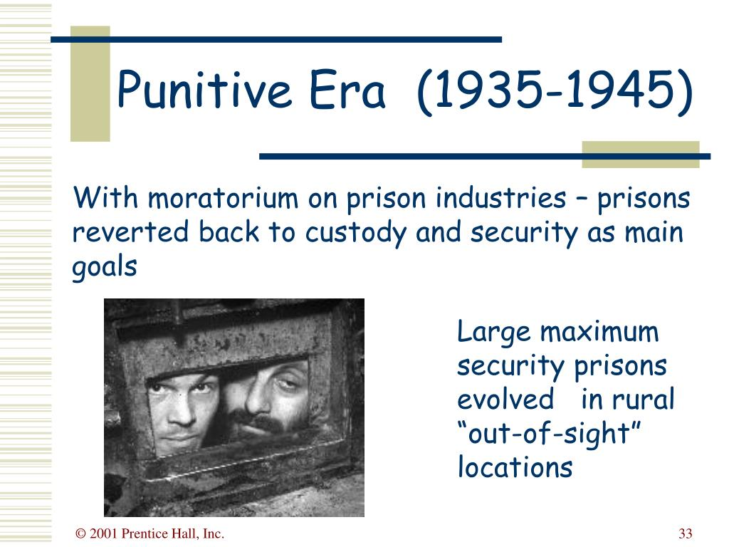With moratorium on prison industries – prisons reverted back to custody and security as main goals