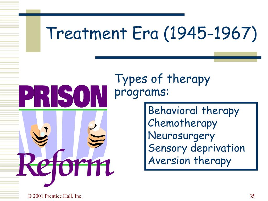 Types of therapy programs: