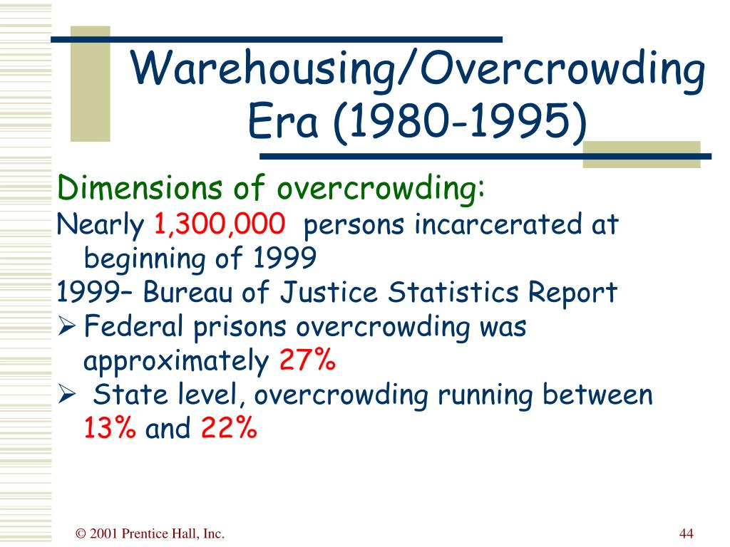 Warehousing/Overcrowding Era (1980-1995)