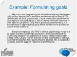 example formulating goals1