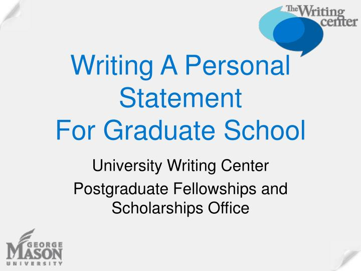 writing a personal statement for graduate school n.