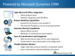 powered by microsoft dynamics crm