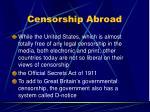 censorship abroad