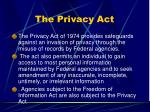 the privacy act