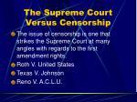 the supreme court versus censorship