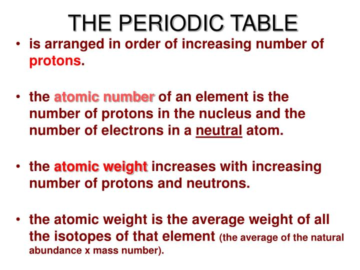 Ppt the periodic table powerpoint presentation id1182895 the periodic table is arranged in order of increasing urtaz Image collections
