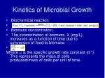 kinetics of microbial growth