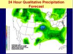 24 hour qualitative precipitation forecast