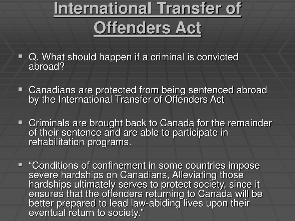 International Transfer of Offenders Act