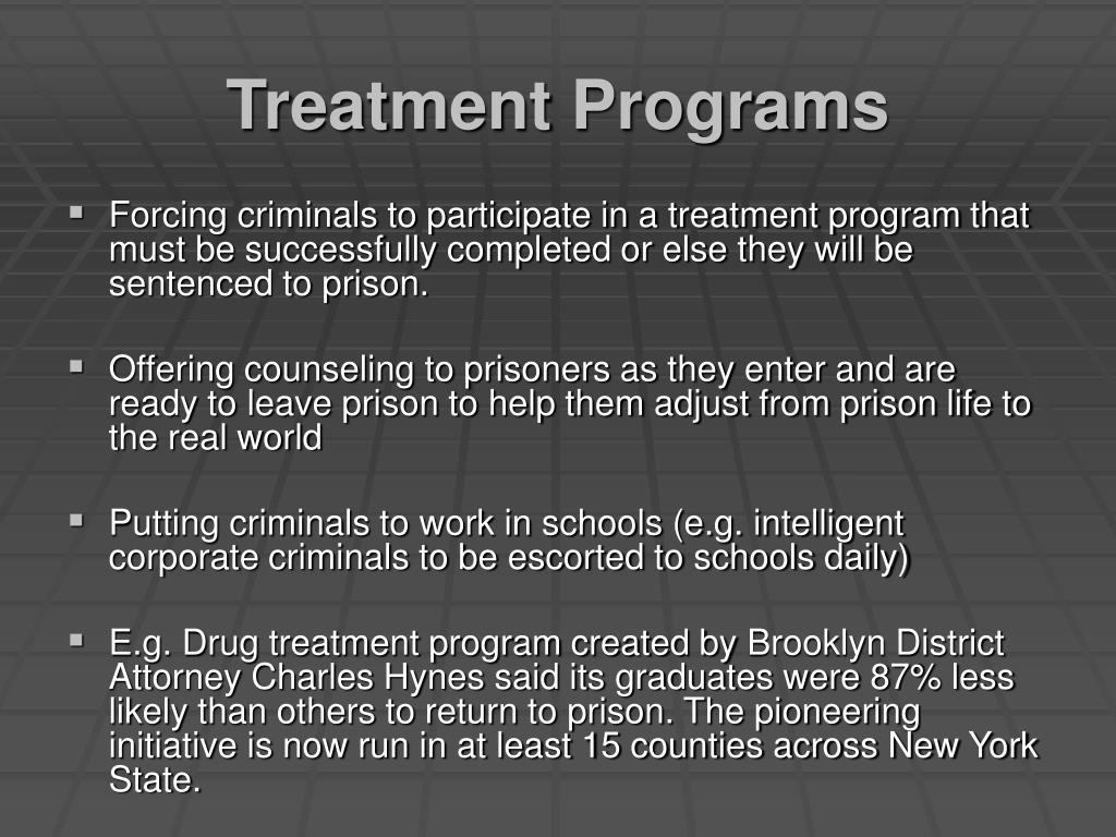 Treatment Programs