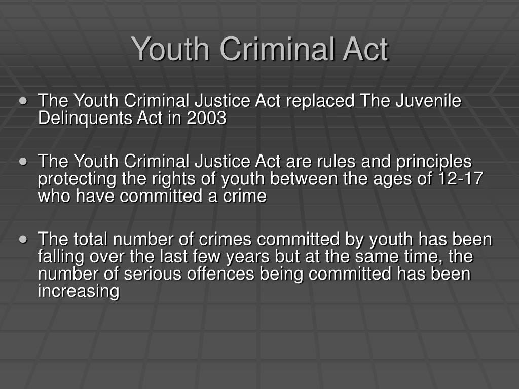 Youth Criminal Act