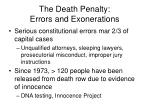 the death penalty errors and exonerations