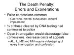 the death penalty errors and exonerations69