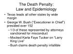 the death penalty law and epidemiology62