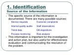 1 identification source of the information