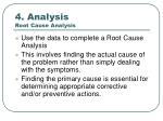 4 analysis root cause analysis