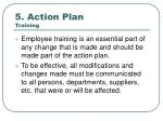 5 action plan training