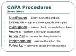 capa procedures seven steps