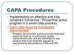 capa procedures