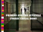 prisons and the juvenile correctional home