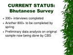 current status bhutanese survey
