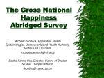 the gross national happiness abridged survey