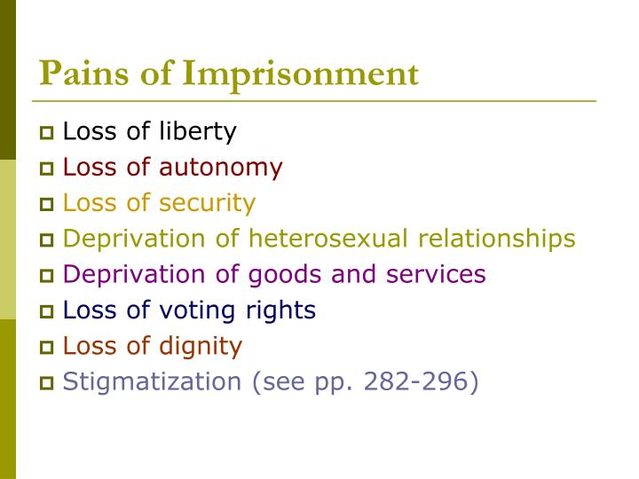 Pains of imprisonment3