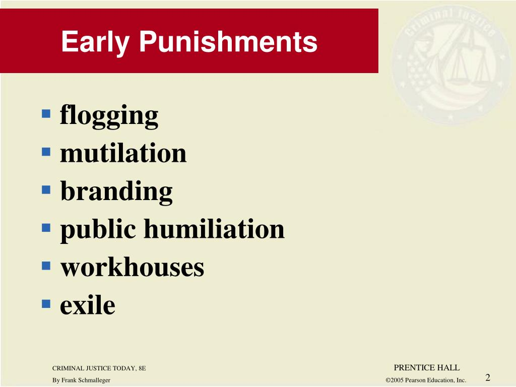 Early Punishments