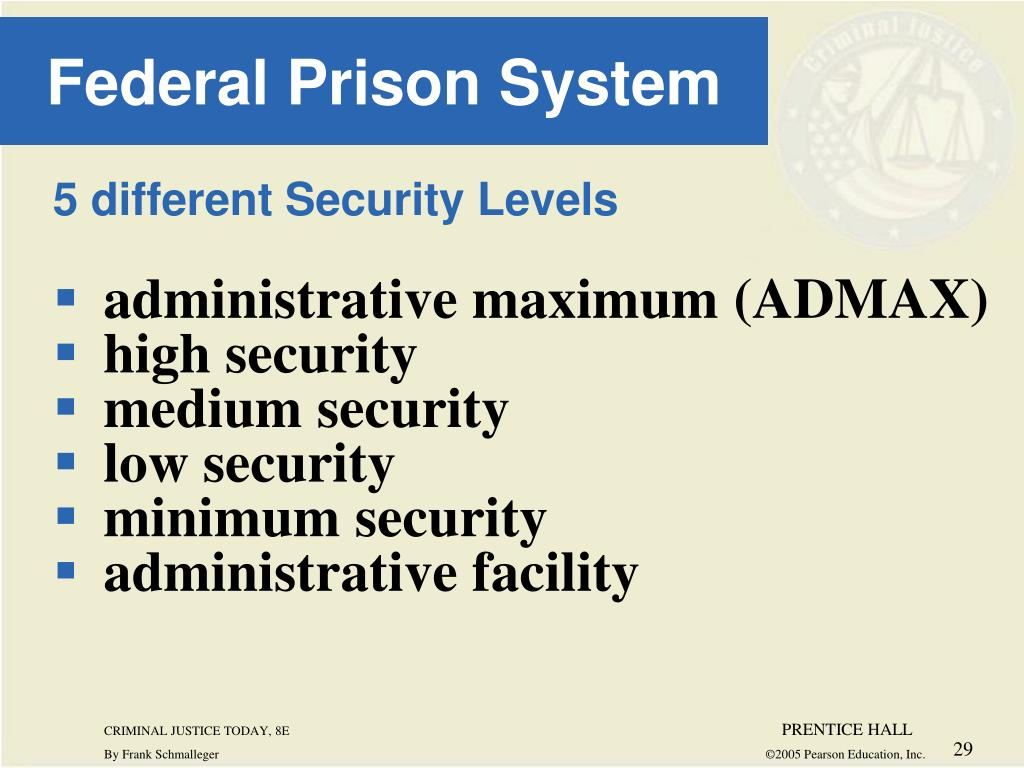 5 different Security Levels