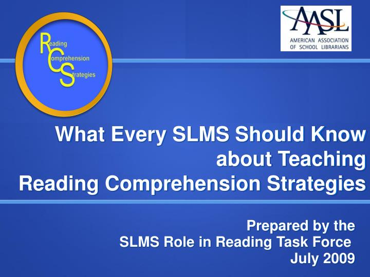 what every slms should know about teaching reading comprehension strategies n.