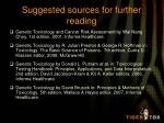 suggested sources for further reading