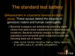 the standard test battery