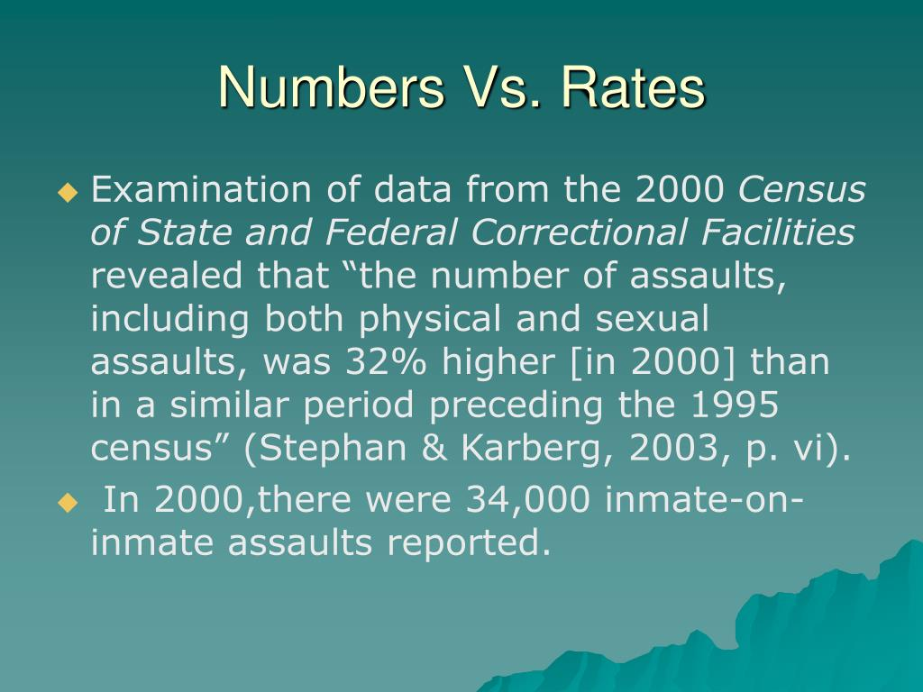 Numbers Vs. Rates