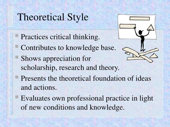 theoretical knowledge and professional practice