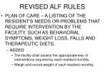 revised alf rules
