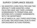 survey compliance issues