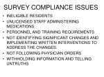 survey compliance issues2