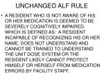 unchanged alf rule