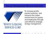 energy management mission statement