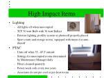 high impact items