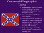 controversial inappropriate tattoos